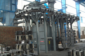 Continuous Monorail Hanger Shot Blasting Machine